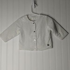 Carrement Beau White Silver Button Jacket